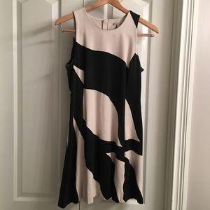 Cream & Black Banana Republic Zip Up Dress